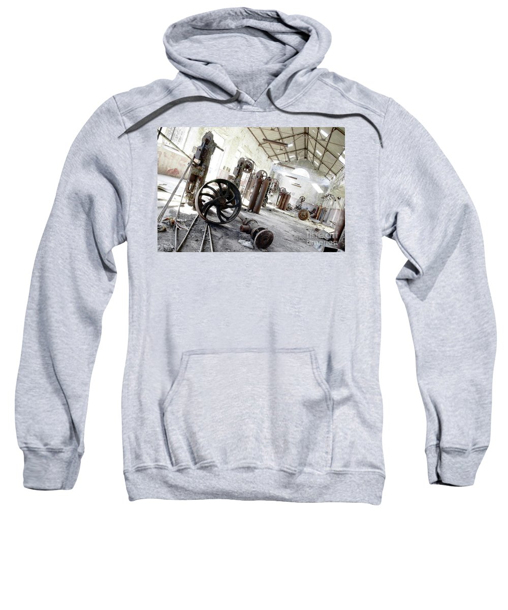 Abandoned Sweatshirt featuring the photograph Abandoned Factory by Carlos Caetano