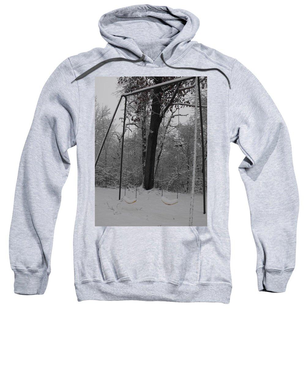 Snow Sweatshirt featuring the photograph Abandoned by Stephanie Kripa