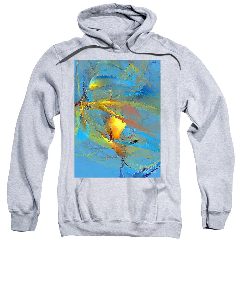 Graphics Sweatshirt featuring the digital art Abs 586 - Marucii by Marek Lutek