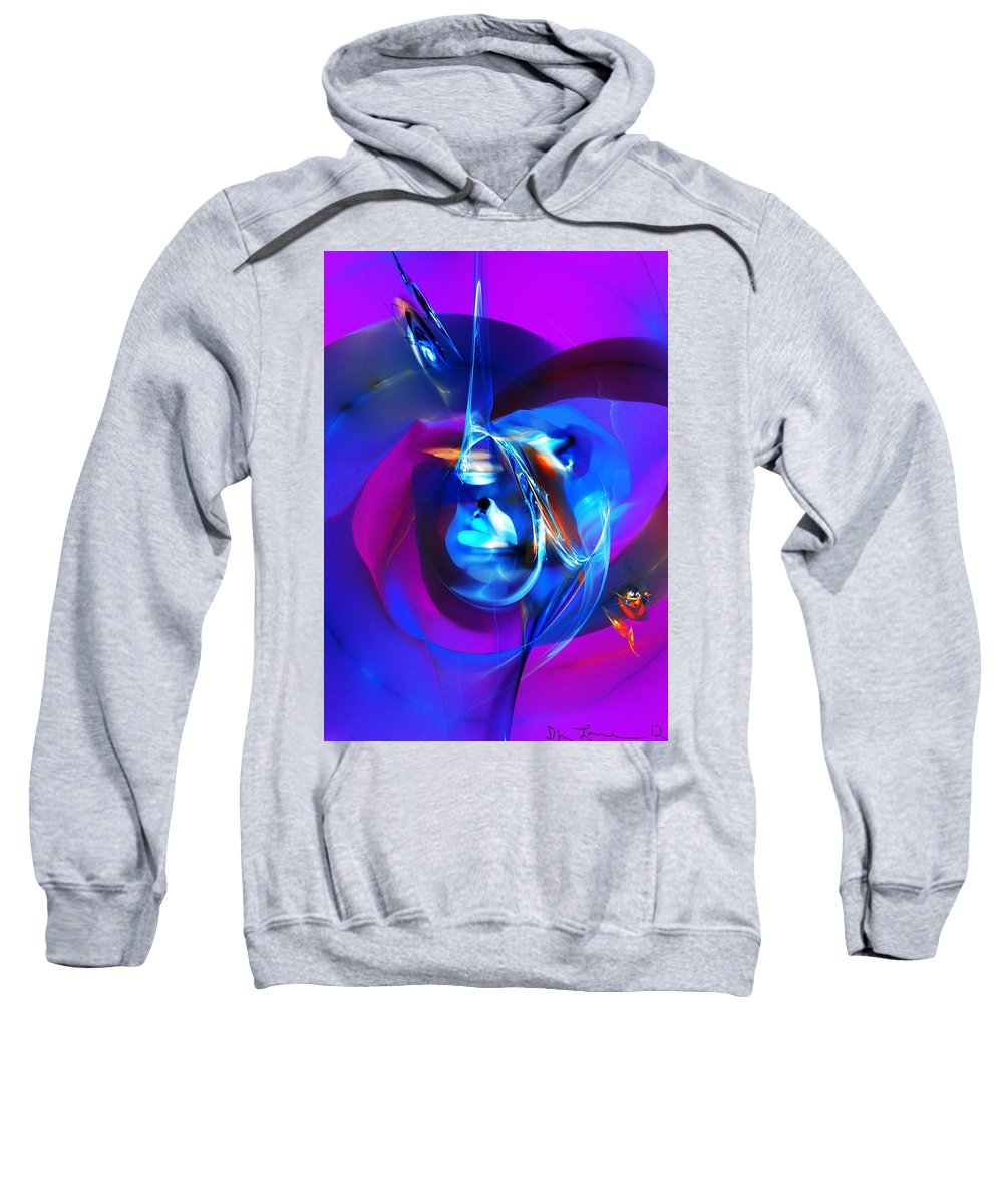 Fine Art Sweatshirt featuring the digital art Abstract 092612 by David Lane