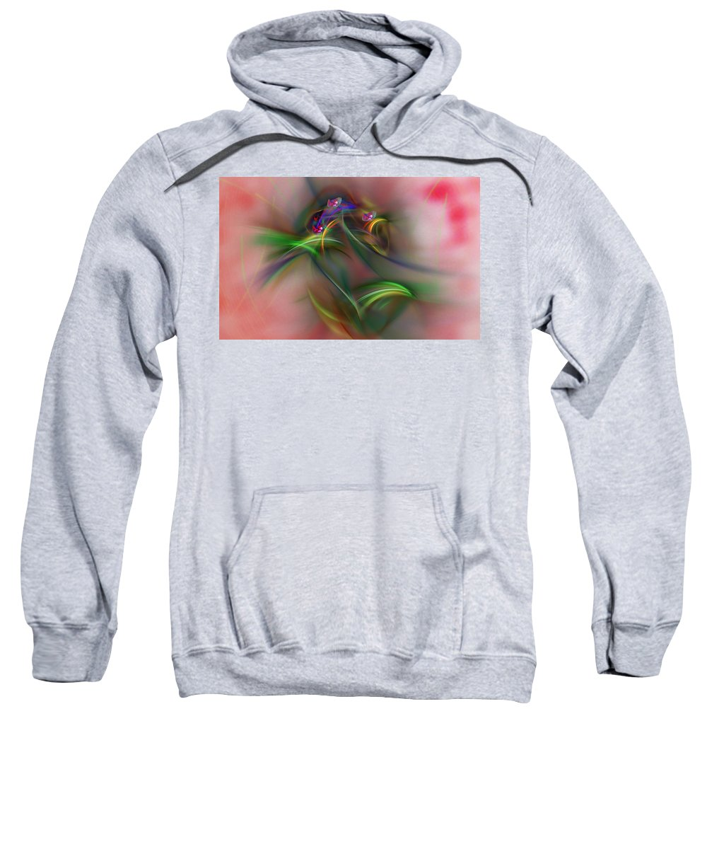 Fine Art Sweatshirt featuring the digital art Abstract 101211b by David Lane