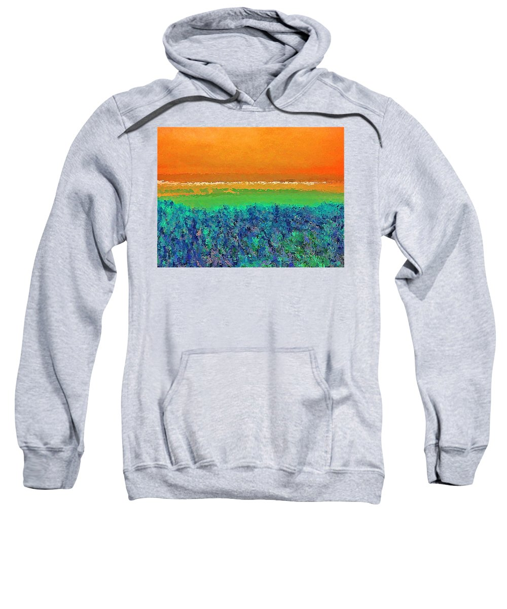 Abstract Sweatshirt featuring the photograph Abstract 133 by Pamela Cooper