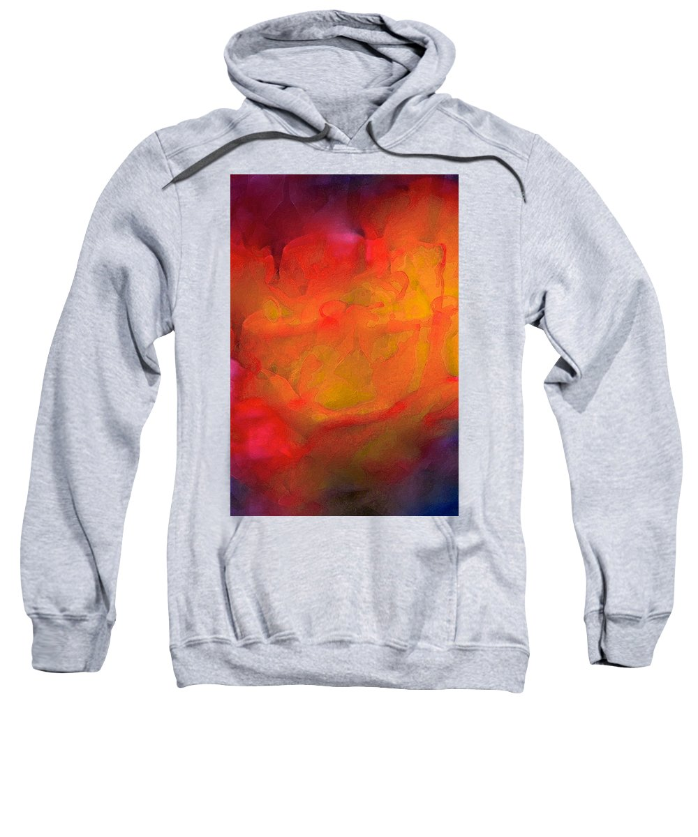 Abstract Sweatshirt featuring the photograph Abstract 279 by Pamela Cooper