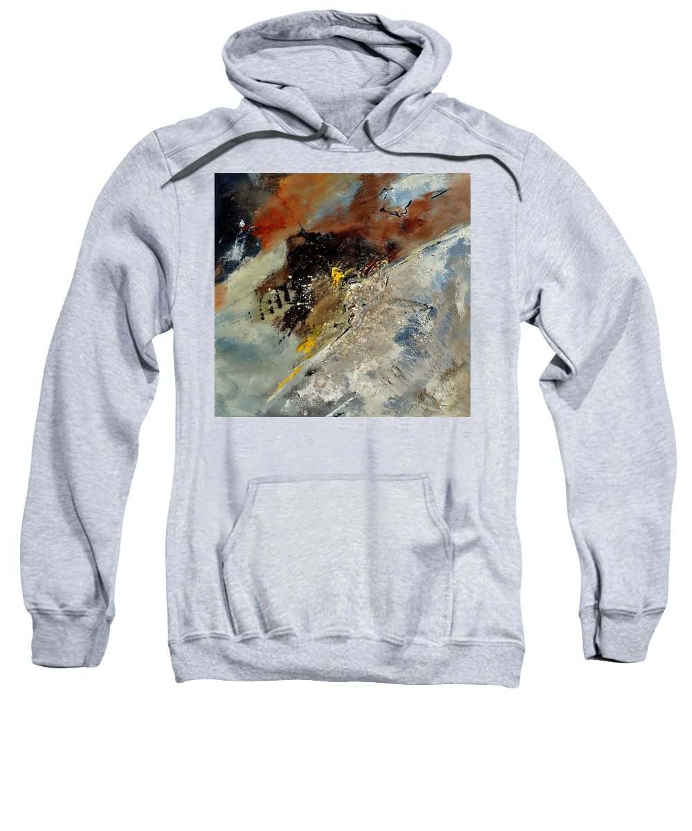 Abstract Sweatshirt featuring the painting Abstract 7721601 by Pol Ledent