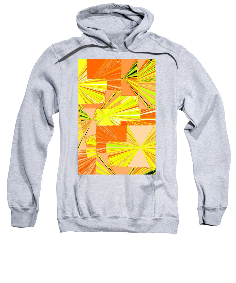 Abstract Fusion Sweatshirt featuring the digital art Abstract Fusion 14 by Will Borden