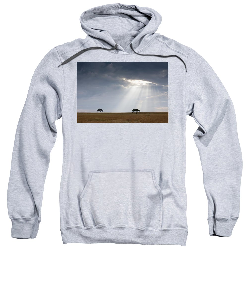 Acacia Trees Sweatshirt featuring the photograph Acacia Trees, Kenya, Africa by Keith Levit