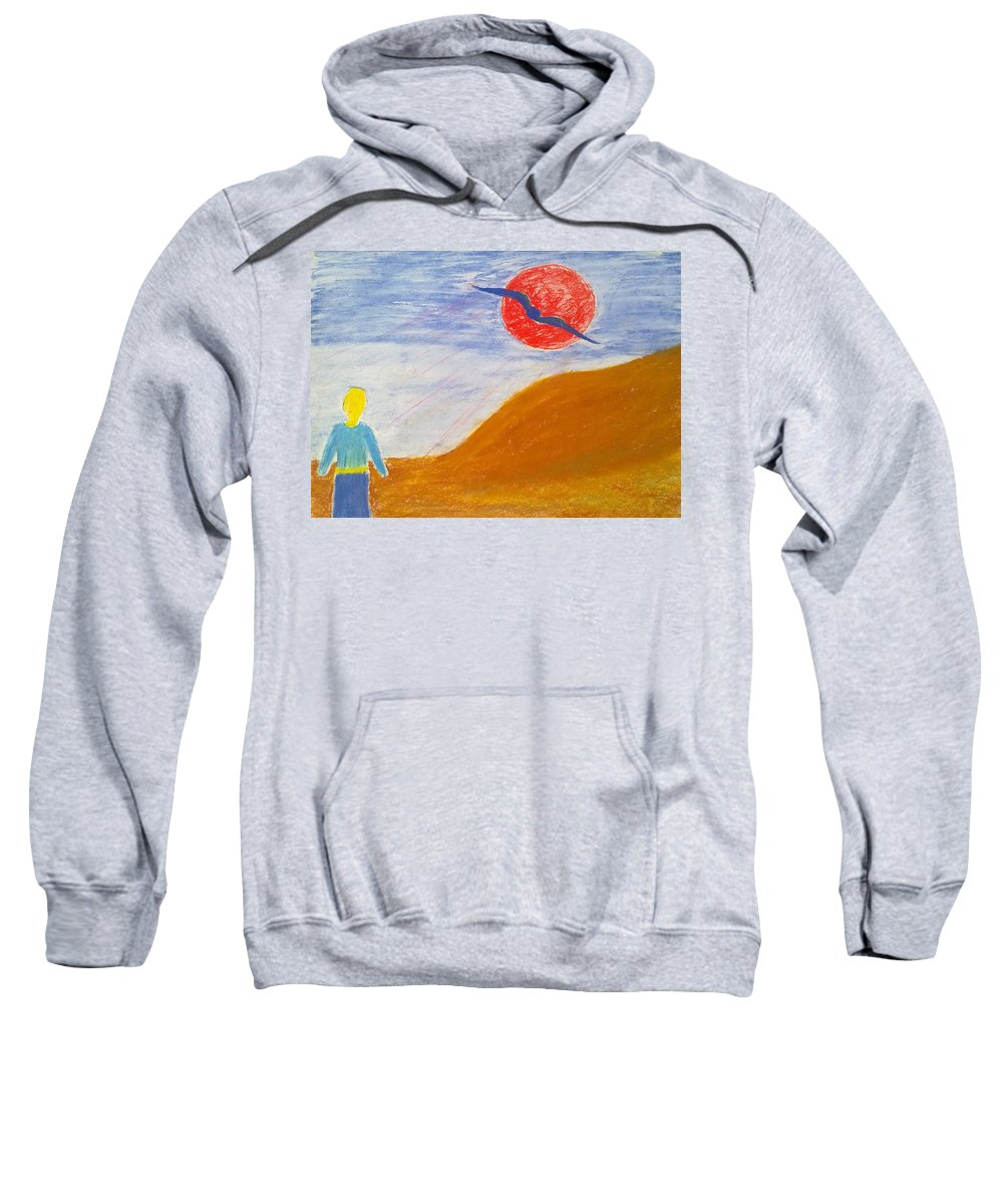 Flying Bird Sweatshirt featuring the painting Acceptance Of Freedoms Wings by Michael Woolcock
