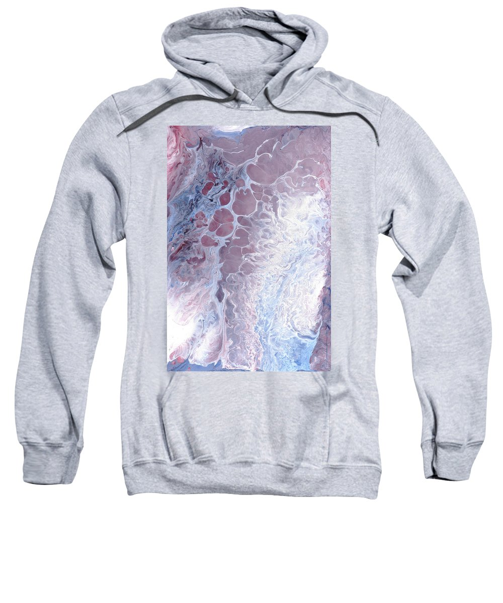 Original Sweatshirt featuring the painting Acrylic Pour November 2001 by Carl Deaville