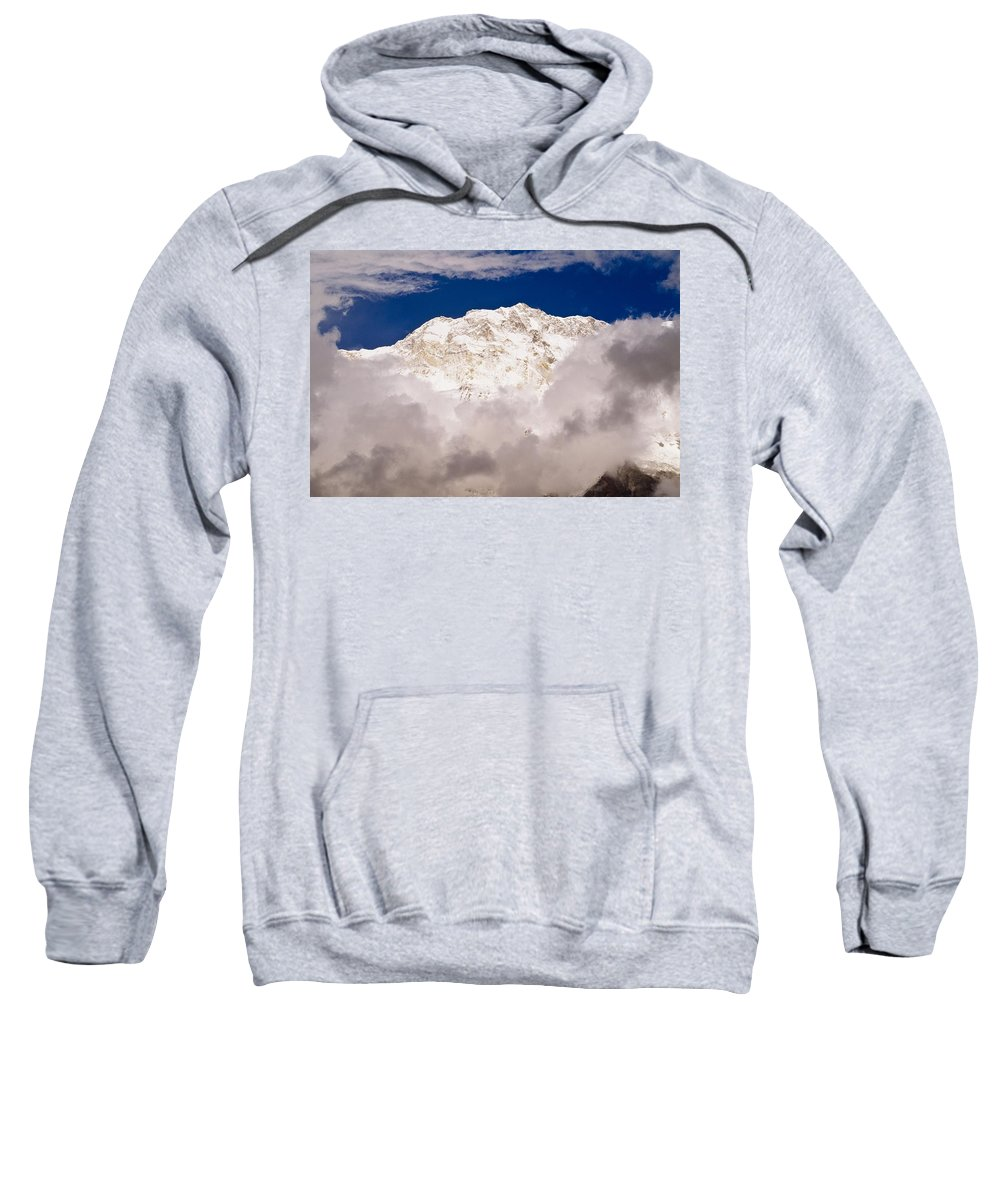 Chilled Sweatshirt featuring the photograph Aerial View Of Mountains, Annapurna by Bilderbuch