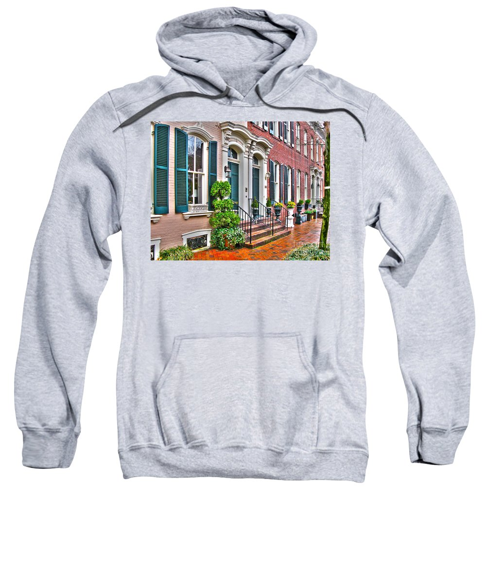 Alexandria Virginia Sweatshirt featuring the photograph Alexandria Row Houses by Jack Schultz