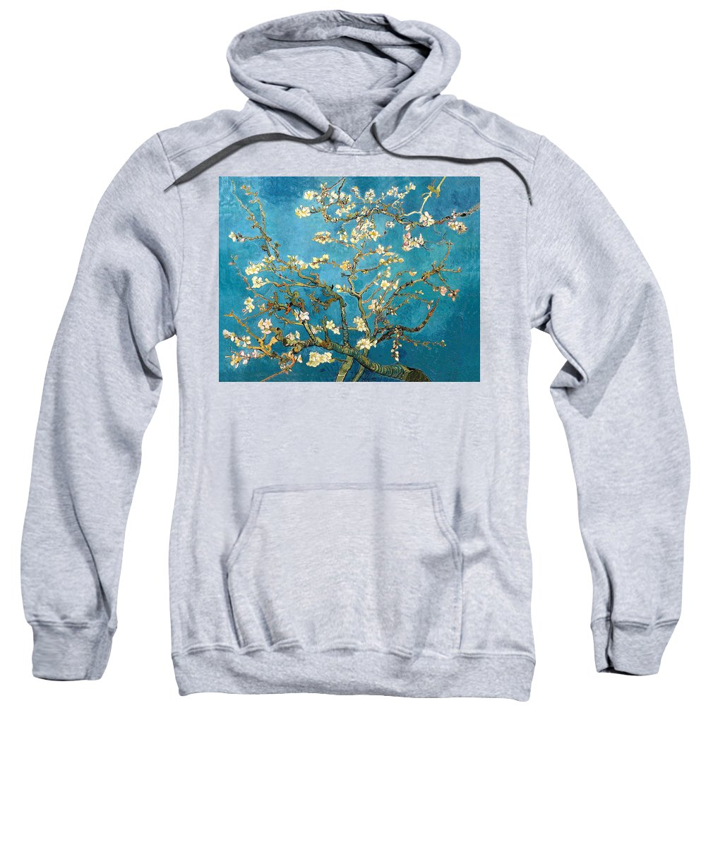 Impressionism Sweatshirt featuring the painting Almond Tree by Sumit Mehndiratta