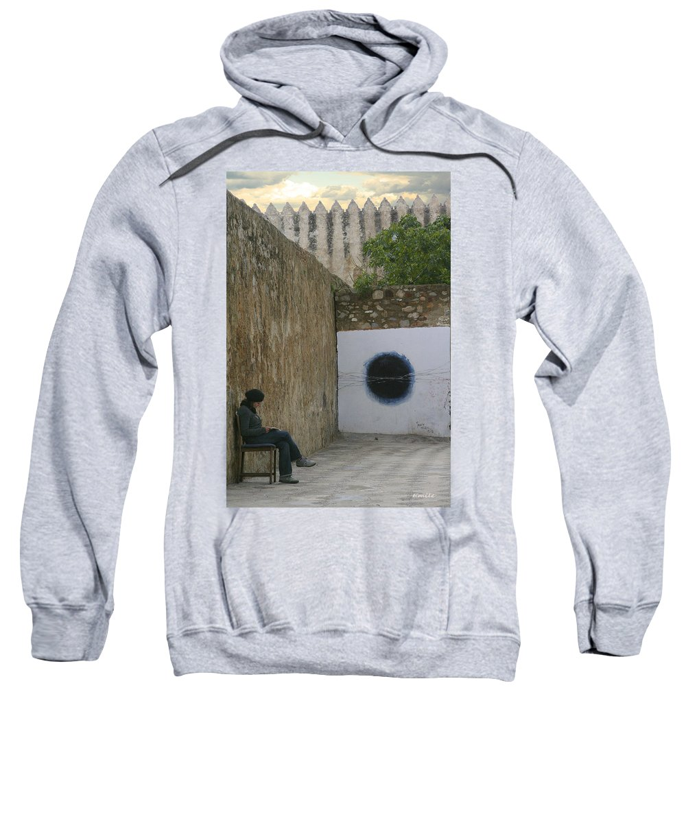 Morocco Sweatshirt featuring the photograph Alone by Emile Ibrahim