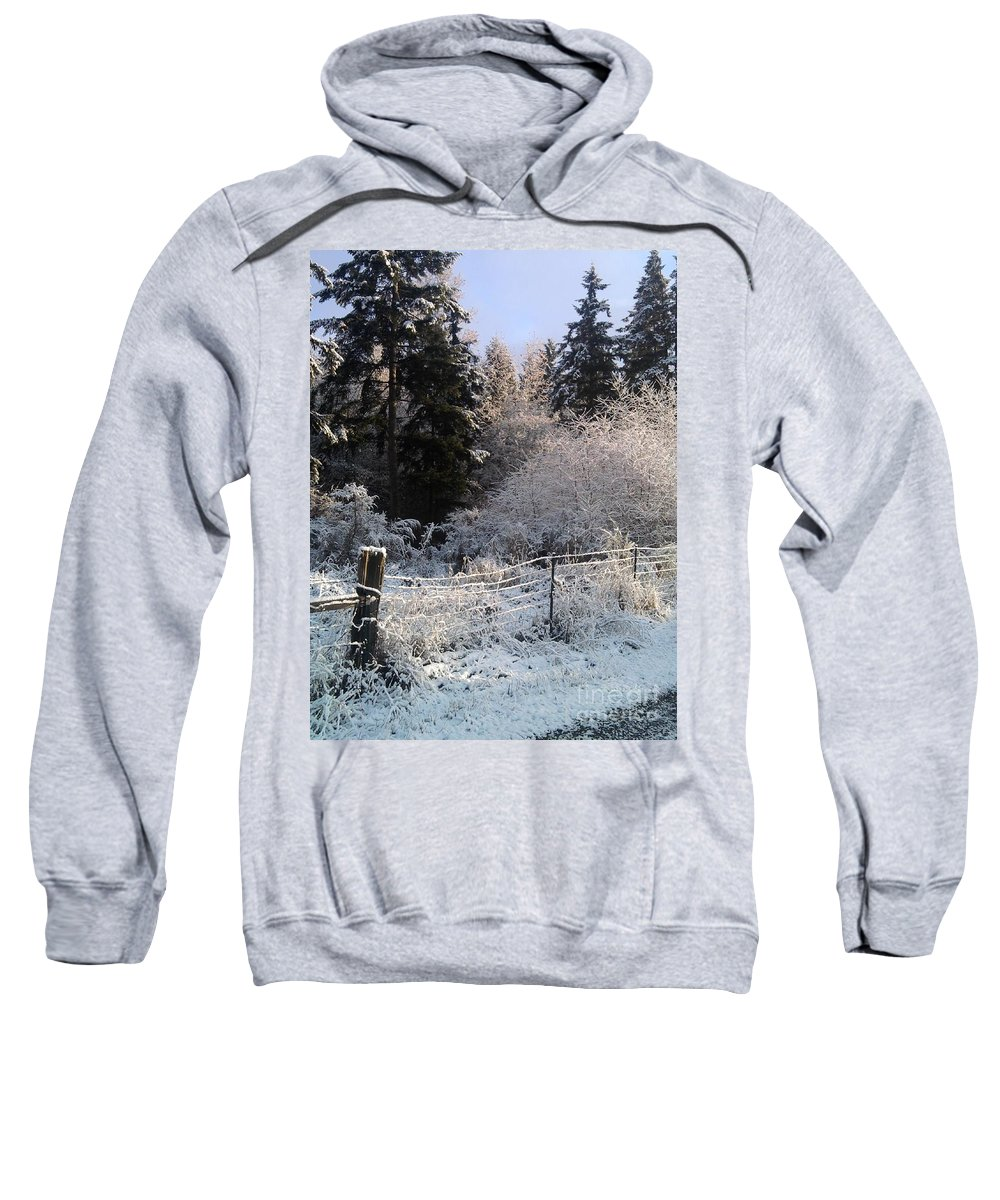 Sweatshirt featuring the photograph Along The Way by Rory Sagner
