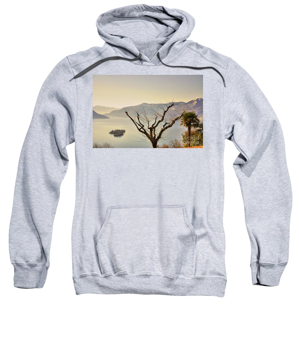 Lake Sweatshirt featuring the photograph Alpine Lake With Islands by Mats Silvan
