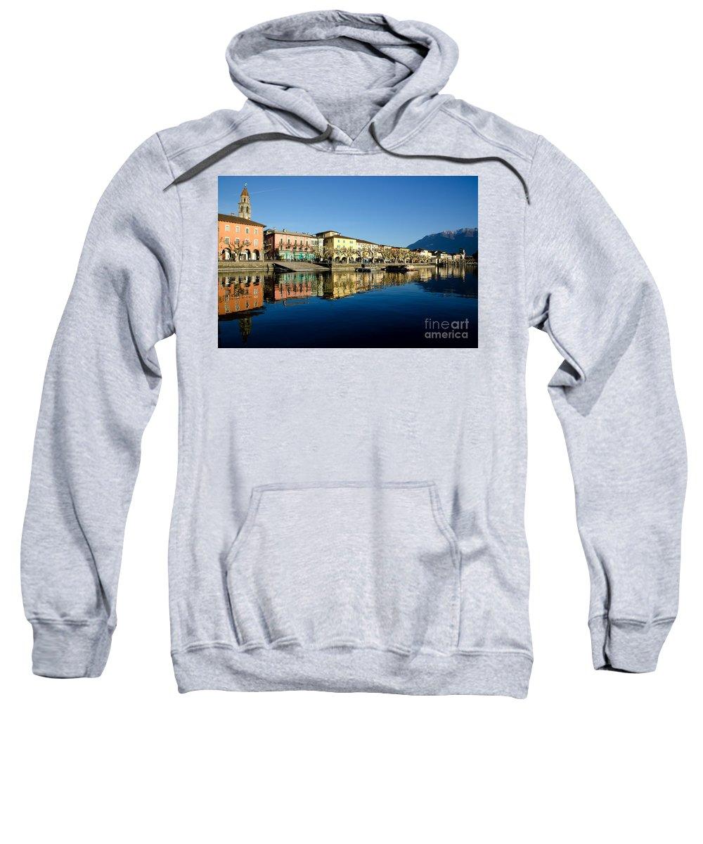 Village Sweatshirt featuring the photograph Alpine Village by Mats Silvan