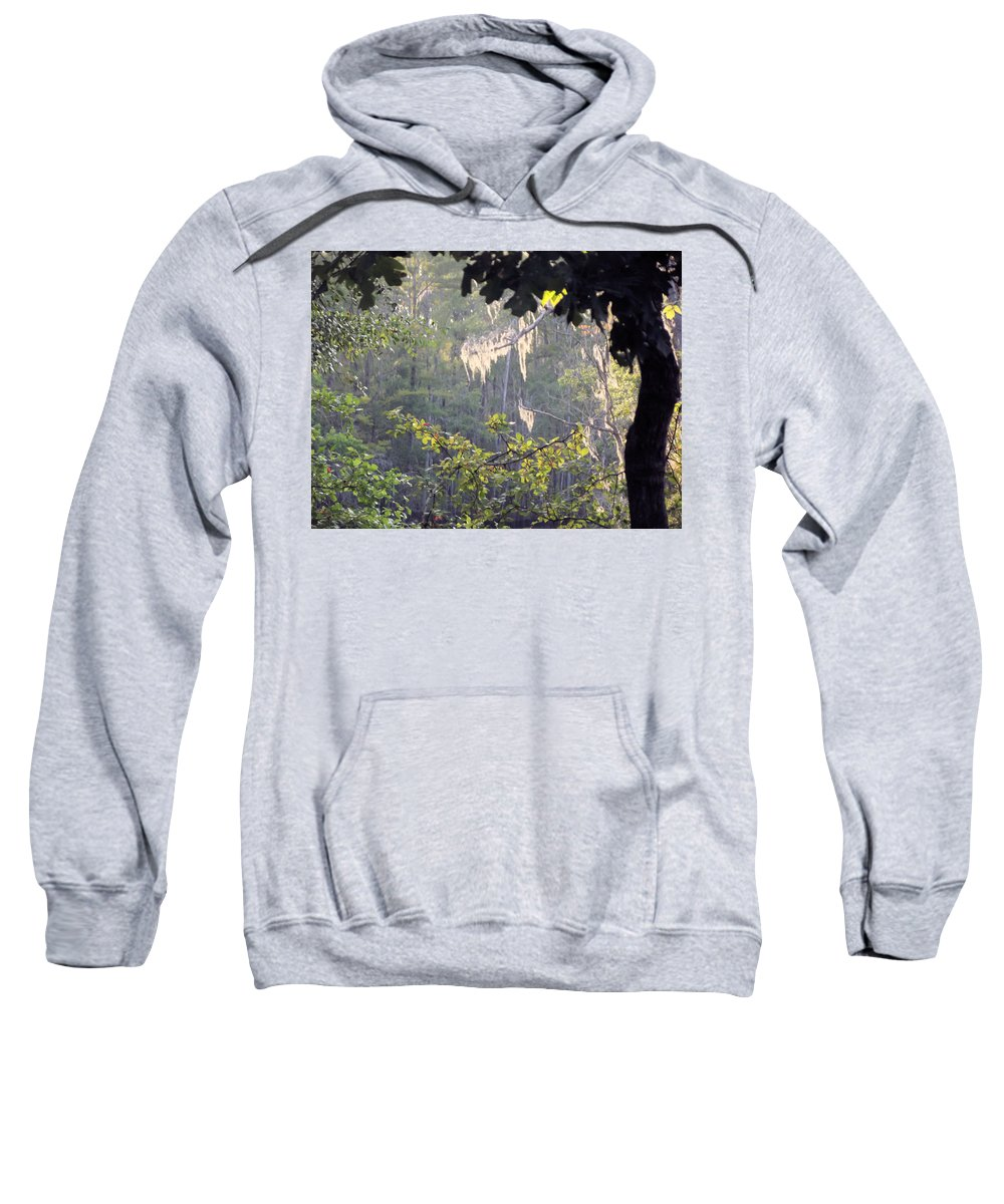 Moss Sweatshirt featuring the photograph Always A Bright Spot by Jennifer Stockman