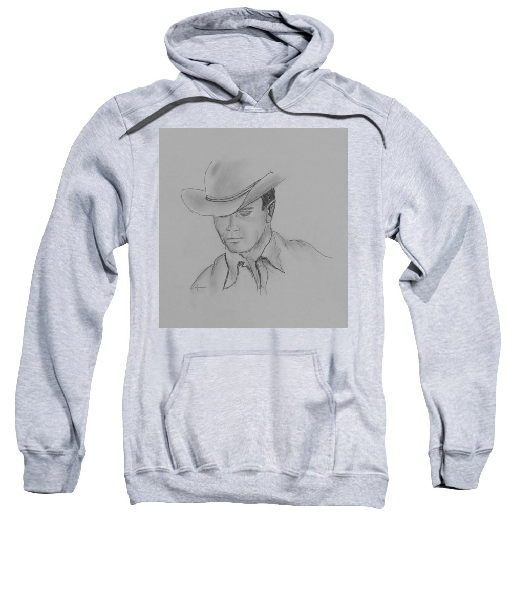 Cowboy Sweatshirt featuring the drawing Always Cowboy by Kume Bryant