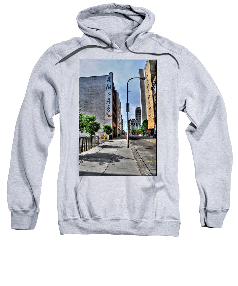 Sweatshirt featuring the photograph Am And As Downtown Buffalo Vert by Michael Frank Jr