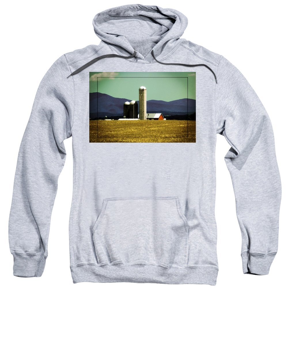 America Sweatshirt featuring the photograph Amber Waves Of Grain by DigiArt Diaries by Vicky B Fuller