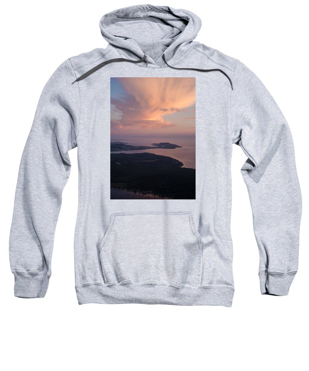 San Juan Islands Sweatshirt featuring the photograph Anacortes Thunder by Mike Reid