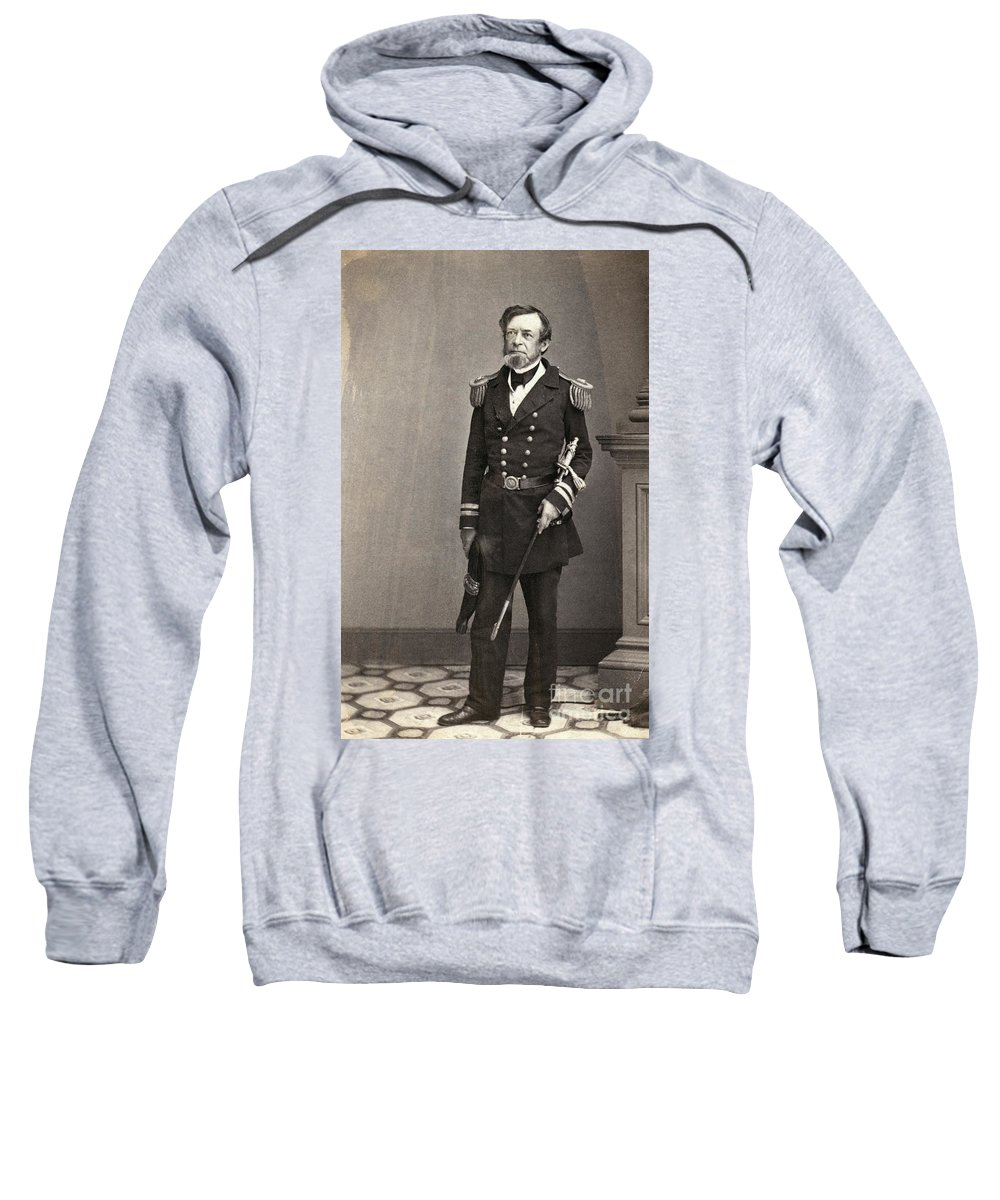 1861 Sweatshirt featuring the photograph Andrew Hull Foote by Granger