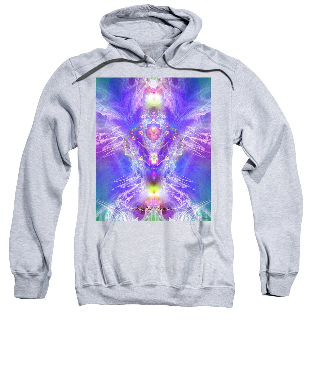Angel Sweatshirt featuring the digital art Angel Of Ascension by Diana Haronis