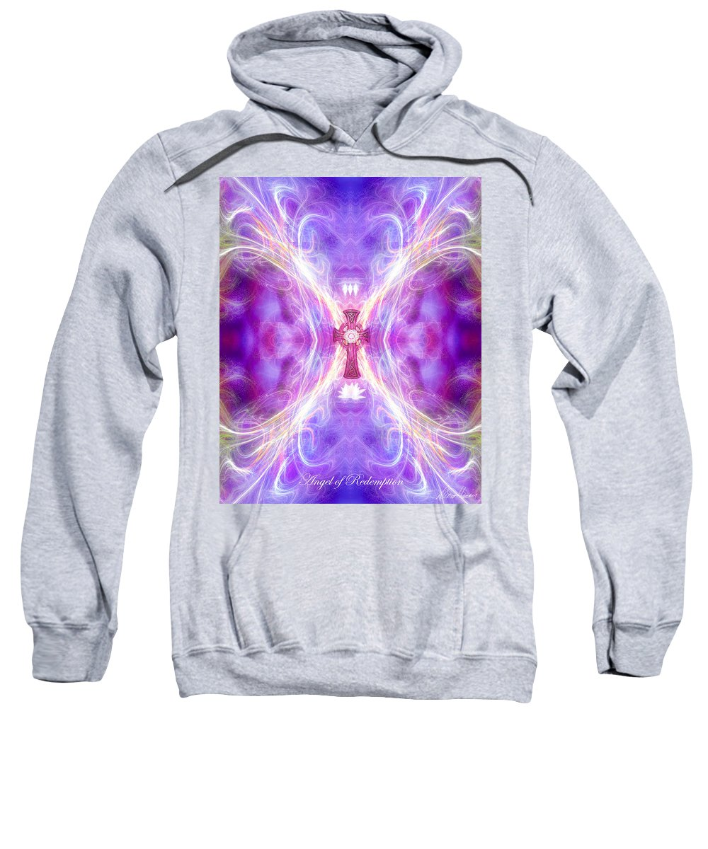 Angel Sweatshirt featuring the digital art Angel Of Redemption by Diana Haronis