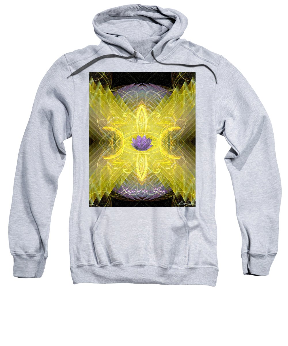 Angel Sweatshirt featuring the digital art Angel Of The Moon by Diana Haronis