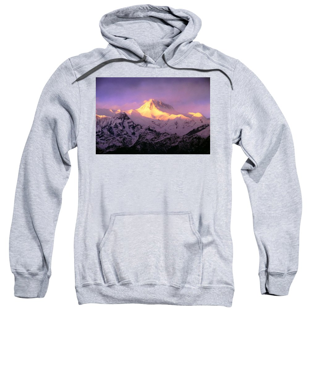 Beauty In Nature Sweatshirt featuring the photograph Annapurna South At Sunrise, Nepal by Bilderbuch