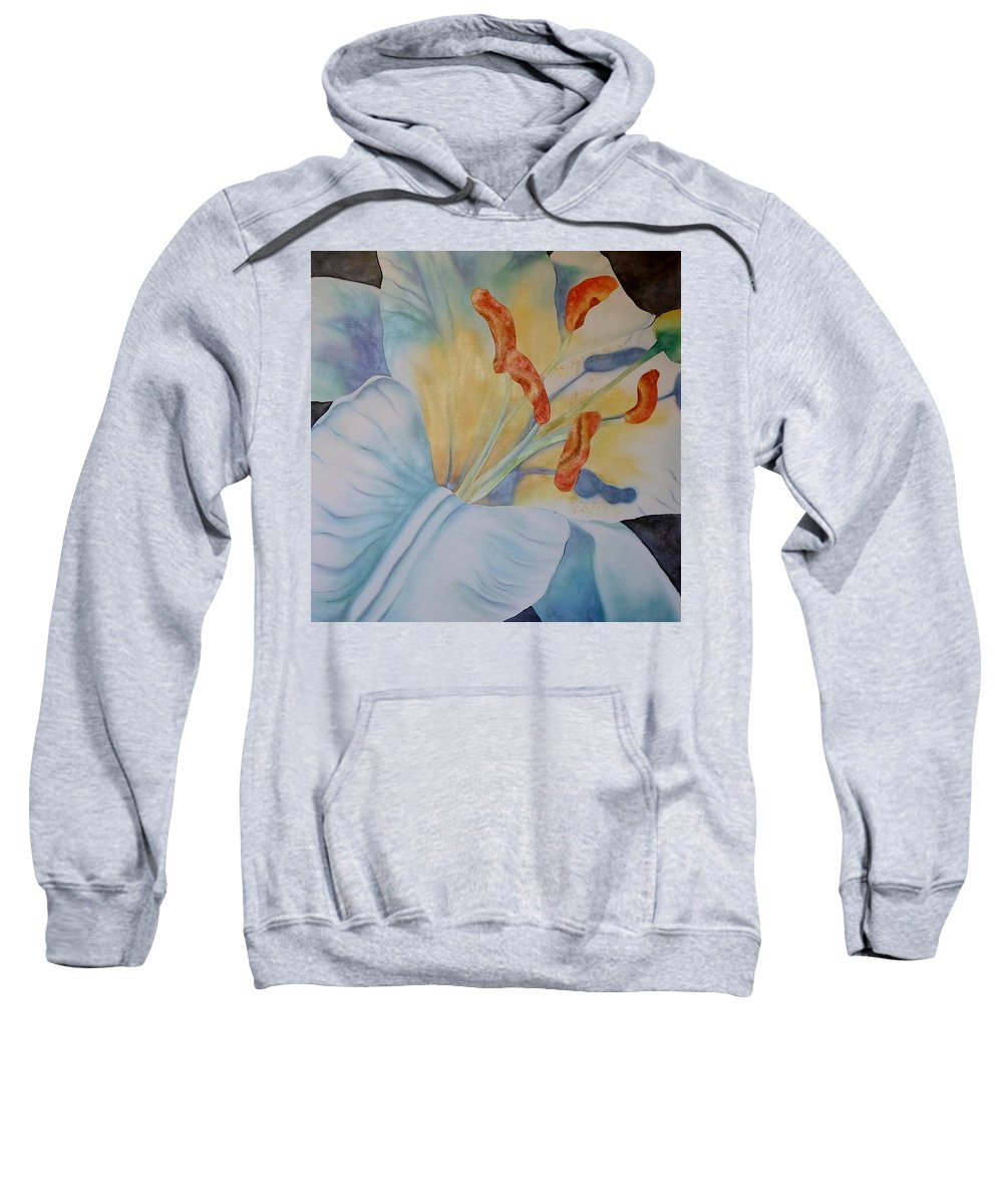 White Sweatshirt featuring the painting Another Liliy by Catherine JN Christopher