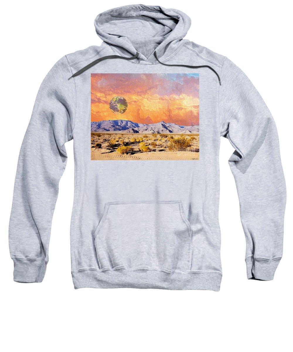 Earth Sweatshirt featuring the digital art California Dreaming by Lizi Beard-Ward