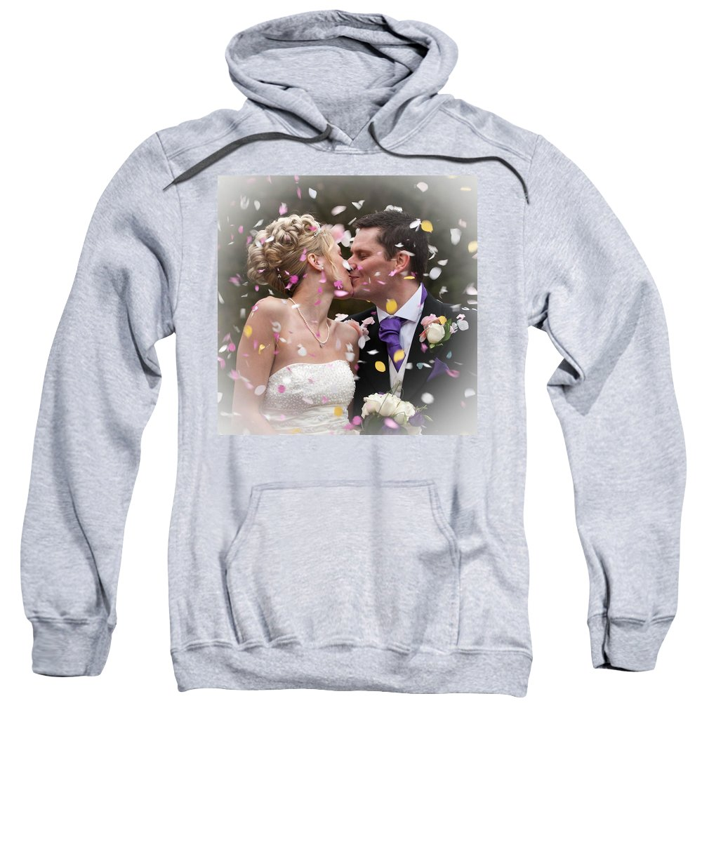 Sweatshirt featuring the photograph Anthony And Claire by Amanda Elwell
