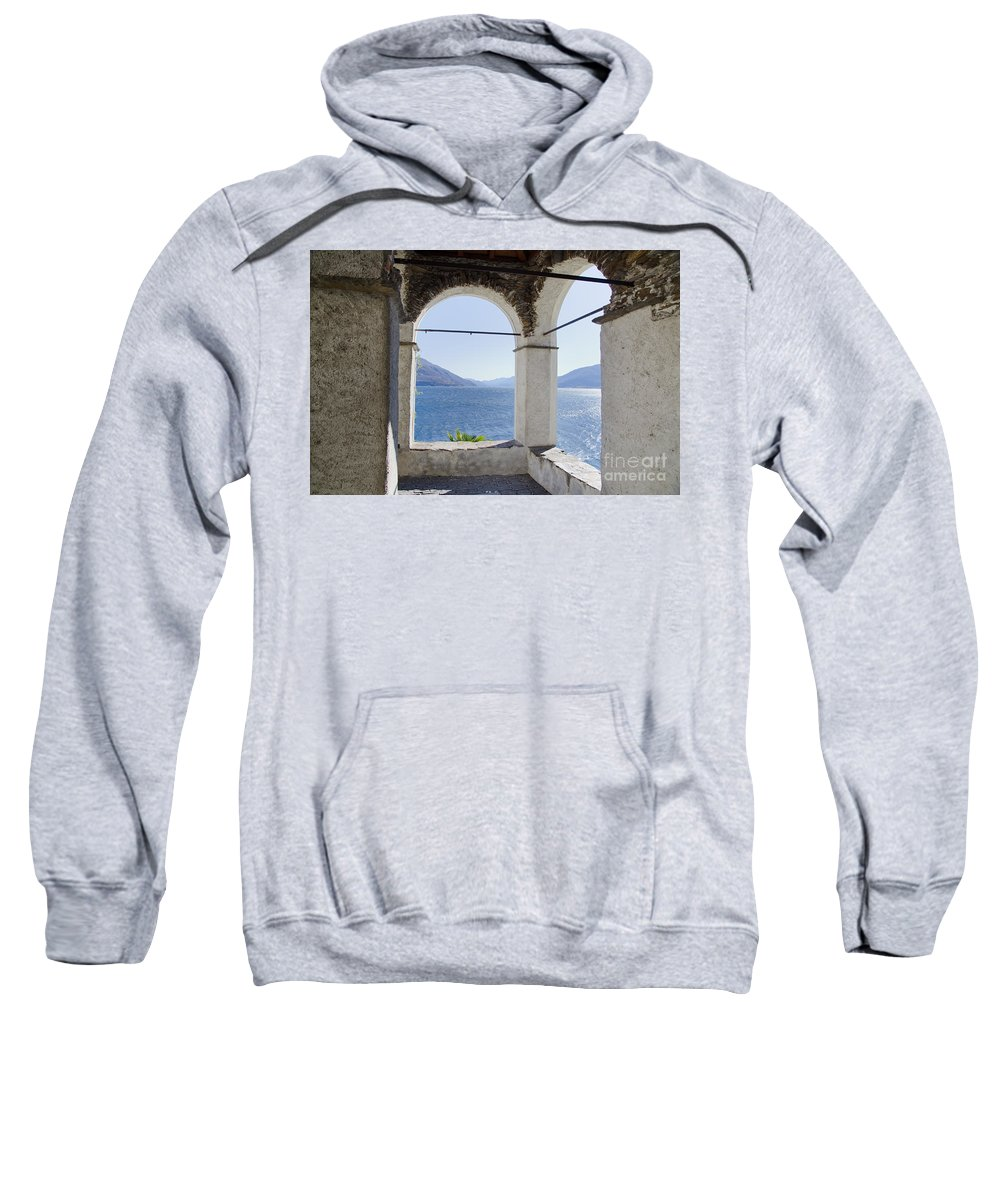 Arch Sweatshirt featuring the photograph Arch And Lake by Mats Silvan