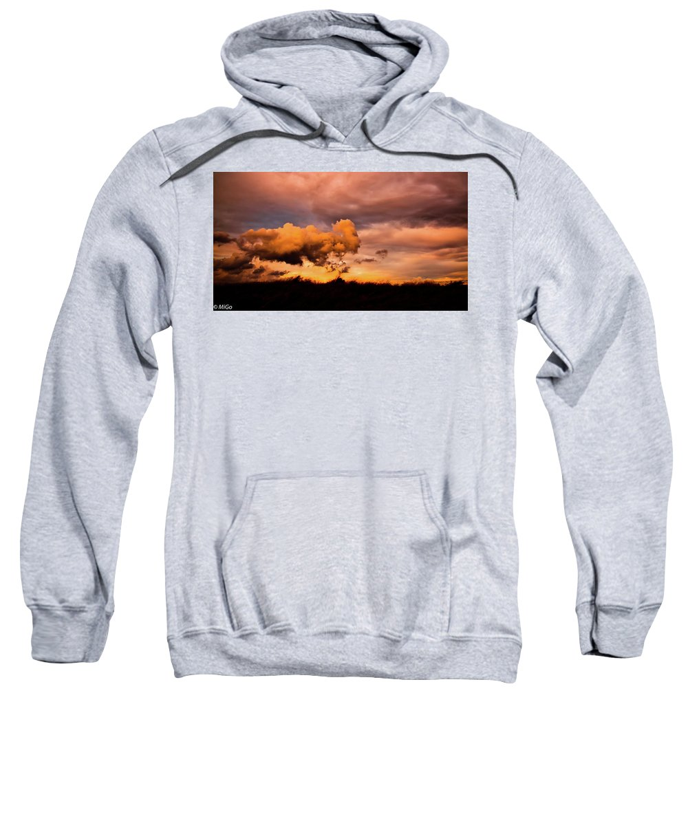 Cloud Sweatshirt featuring the photograph Armageddon by Michael Goyberg