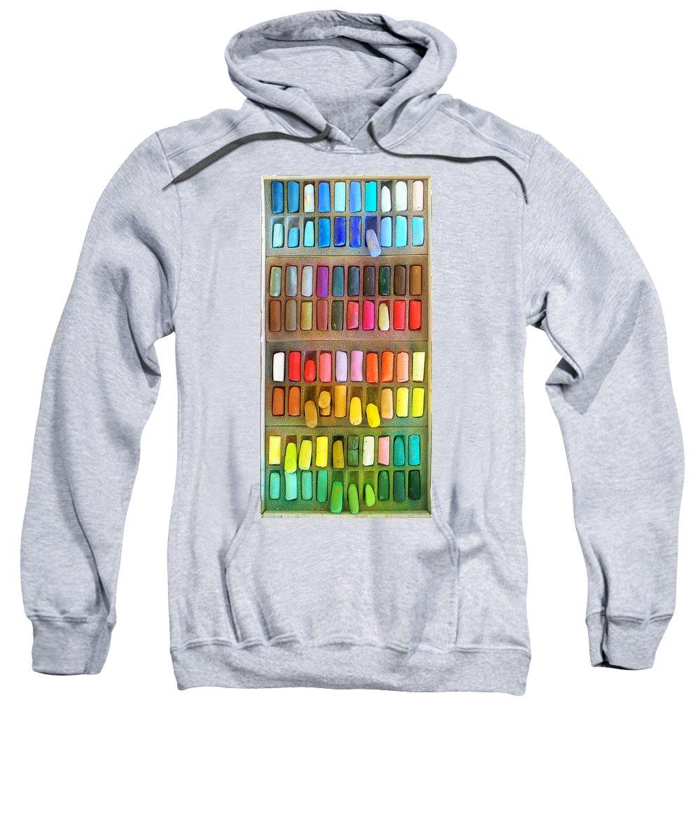 Pastel Sweatshirt featuring the photograph Artists Rainbow by Francesa Miller