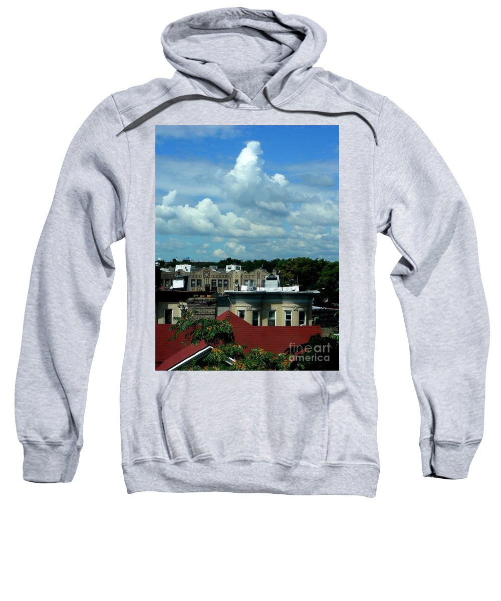 Clouds Sweatshirt featuring the photograph August 4 2008 by Mark Gilman