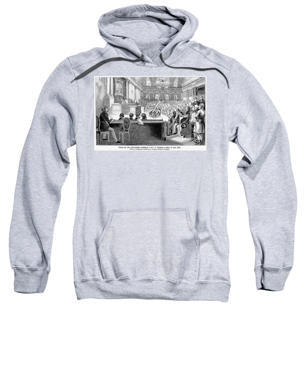 1848 Sweatshirt featuring the photograph Austrian Assembly, 1848 by Granger