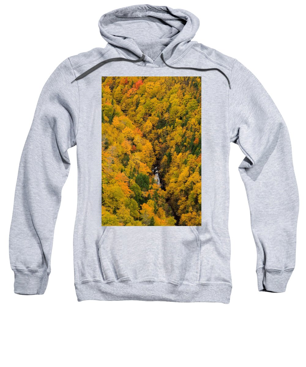 Aerial Image Sweatshirt featuring the photograph Autumn Colour And Waterfalls, Cape by John Sylvester