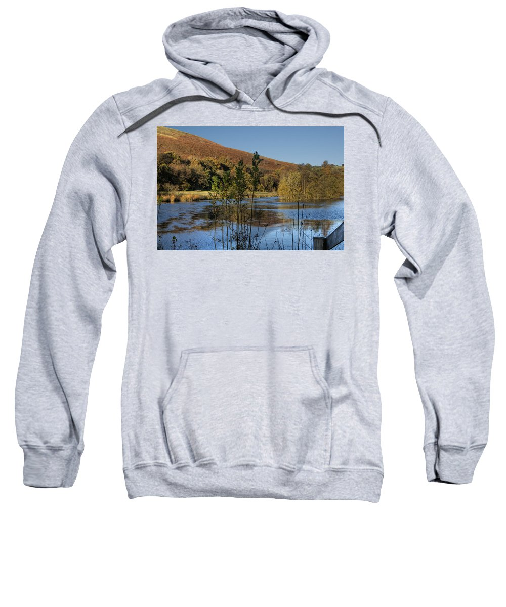 Autumn Pond Sweatshirt featuring the photograph Autumn Pond 11 by Steve Purnell