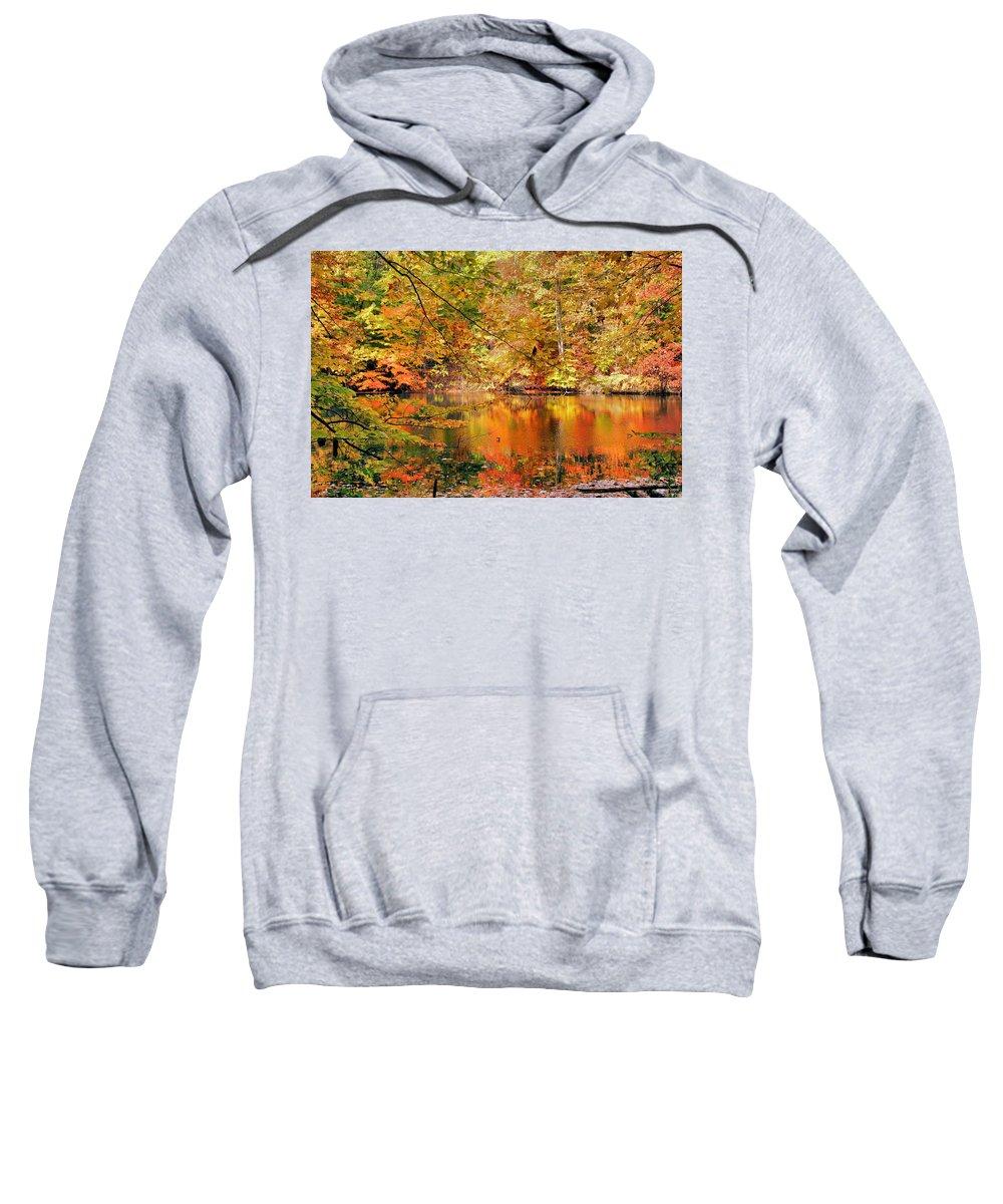 Autumn Sweatshirt featuring the photograph Autumn Reflections by Kristin Elmquist