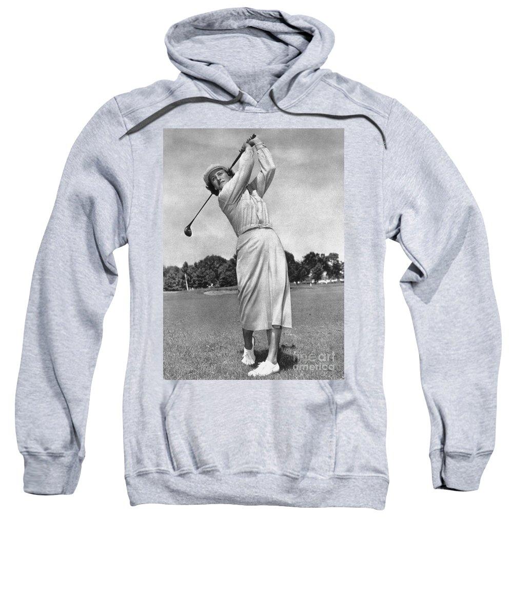 1950 Sweatshirt featuring the photograph Babe Didrikson Zaharias by Granger