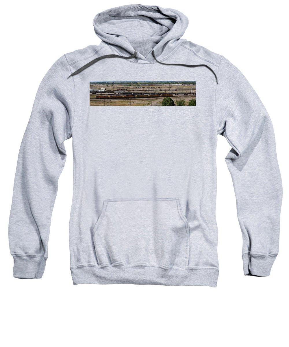 Train Sweatshirt featuring the photograph Bailey Yard by Sumi Martin