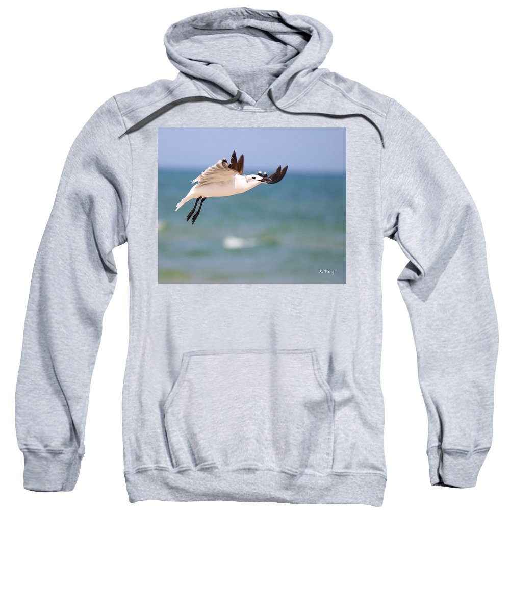 Roena King Sweatshirt featuring the photograph Ballerina Performing A Grand Jete by Roena King