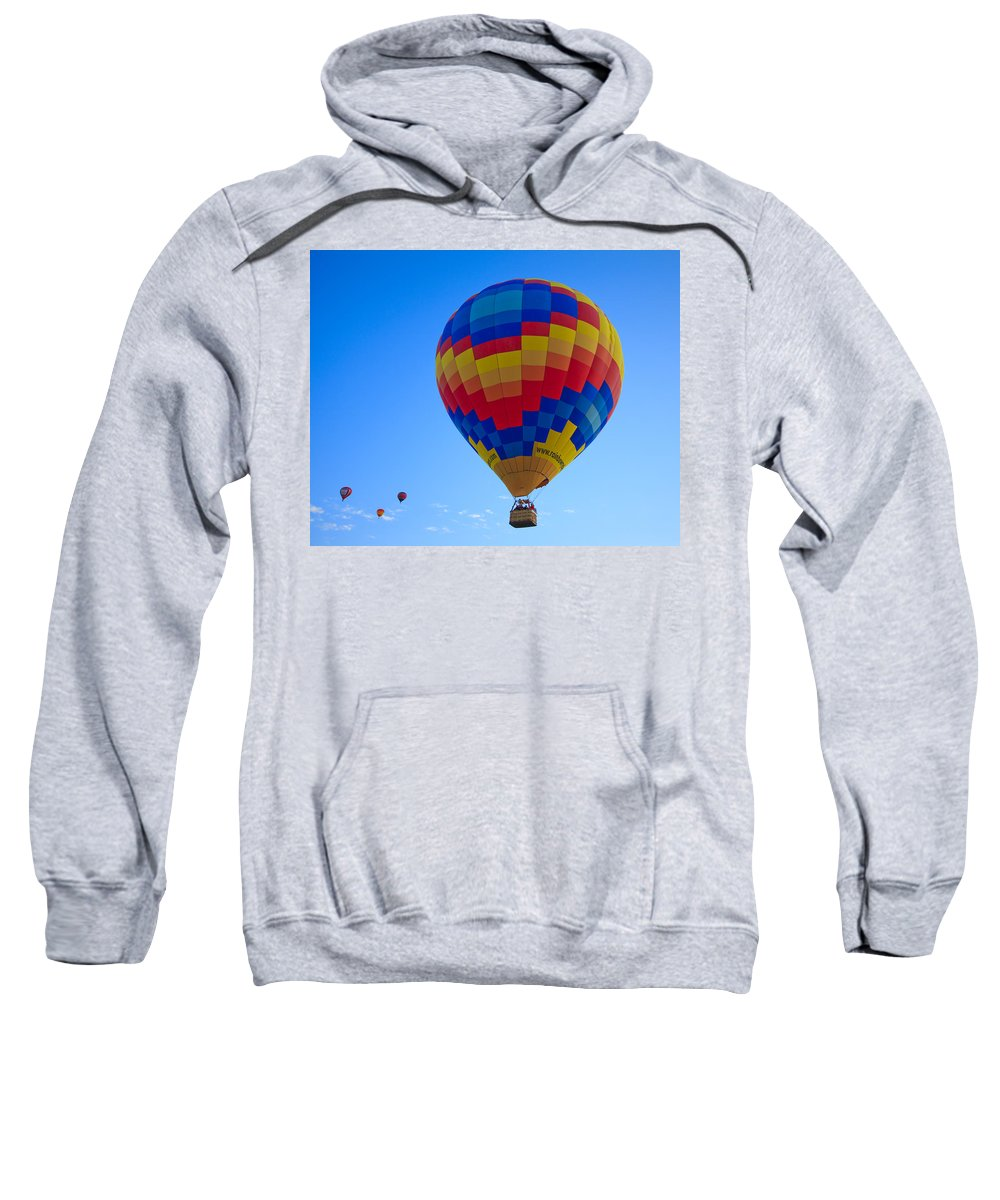 Hot Sweatshirt featuring the photograph Balloon Fiesta by Michael Clubb