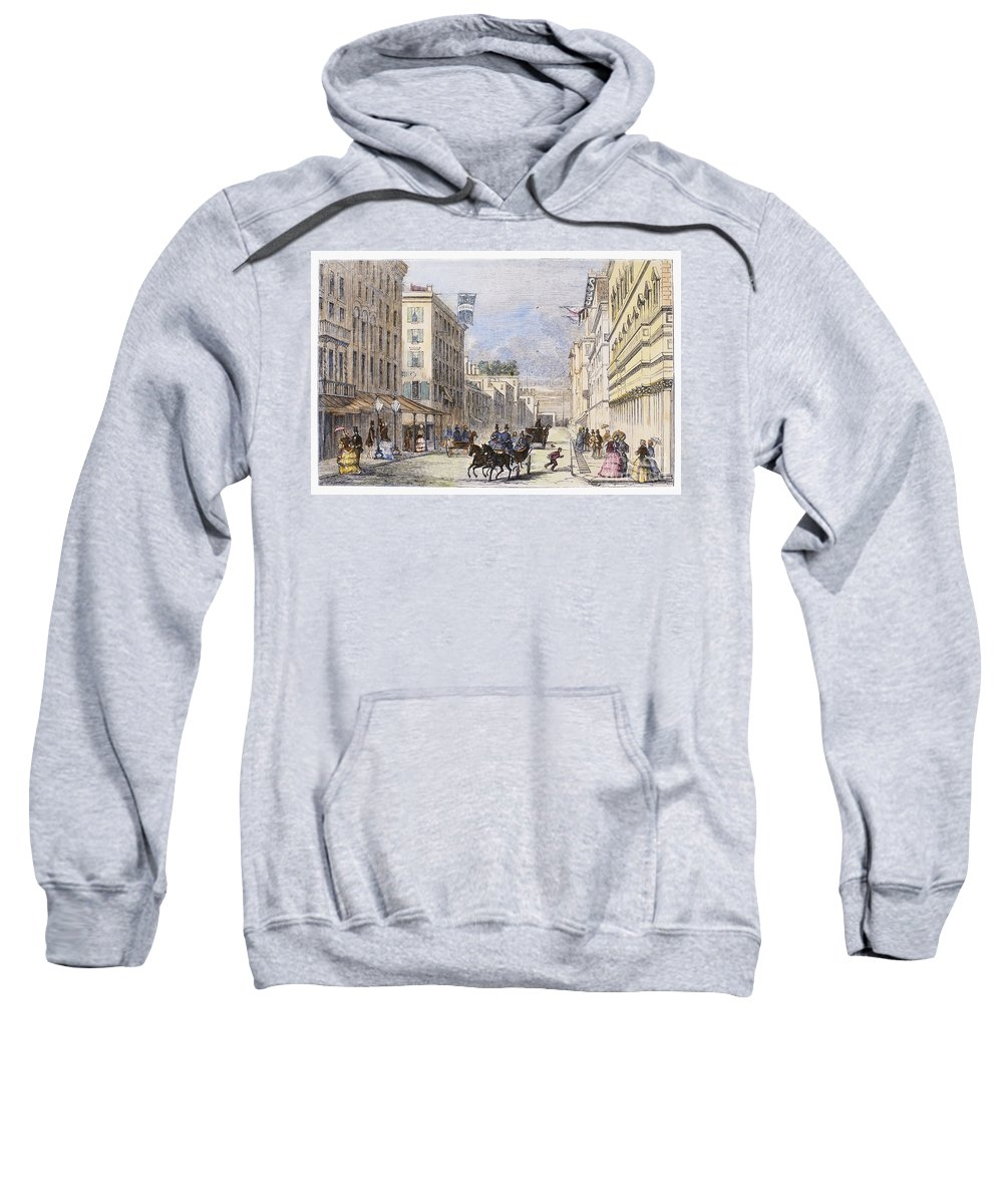 1856 Sweatshirt featuring the photograph Baltimore, 1856 by Granger