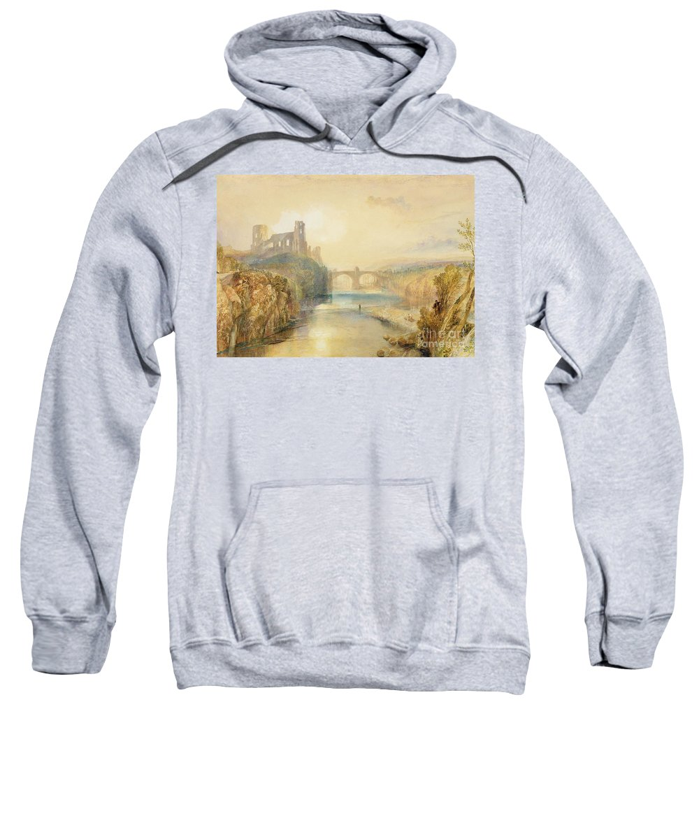 Barnard Sweatshirt featuring the painting Barnard Castle by Joseph Mallord William Turner