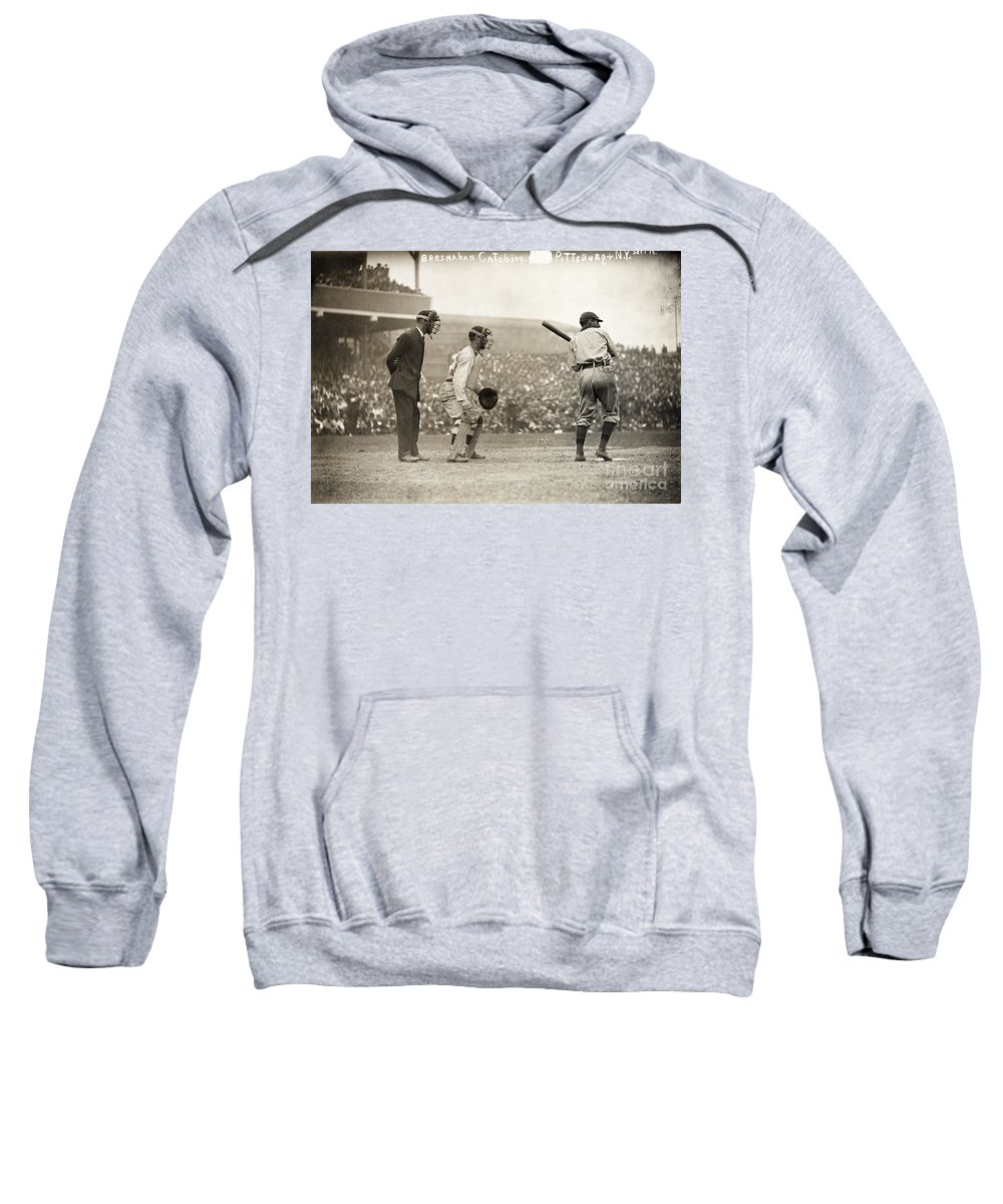 1908 Sweatshirt featuring the photograph Baseball Game, 1908 by Granger