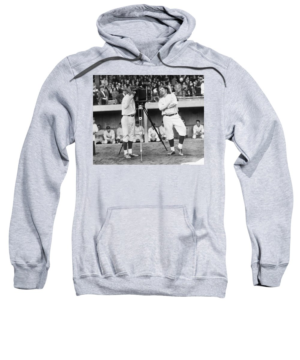 1920s Sweatshirt featuring the photograph Baseball Players, 1920s by Granger