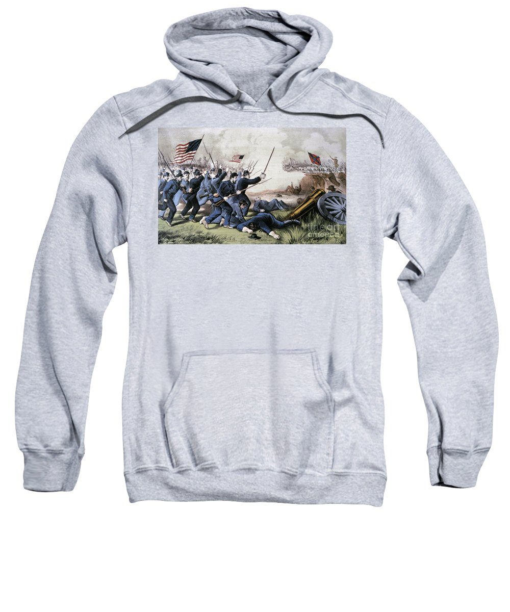 1864 Sweatshirt featuring the photograph Battle Of Jonesboro, 1864 by Granger