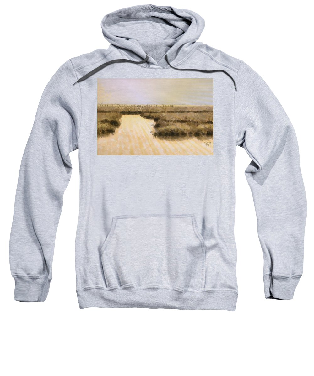 Pier Sweatshirt featuring the photograph Bay City Pier by Trish Tritz